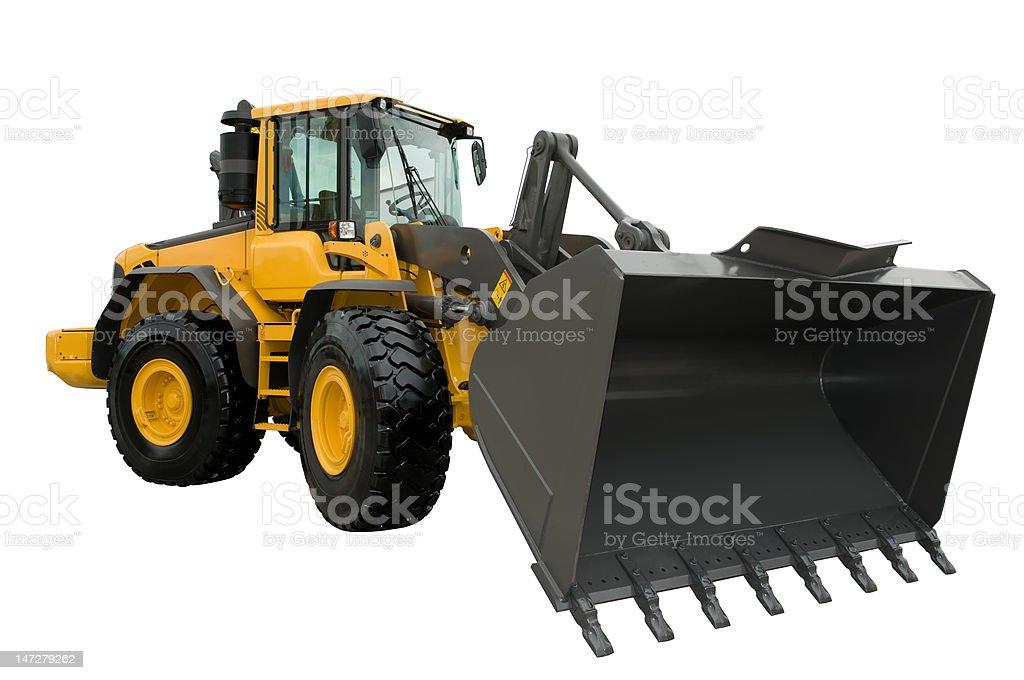 The heavy building bulldozer stock photo