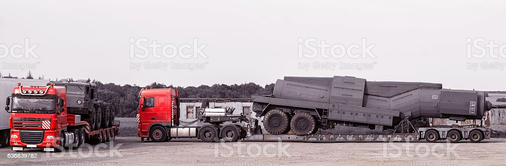 the heavy line haulers stock photo