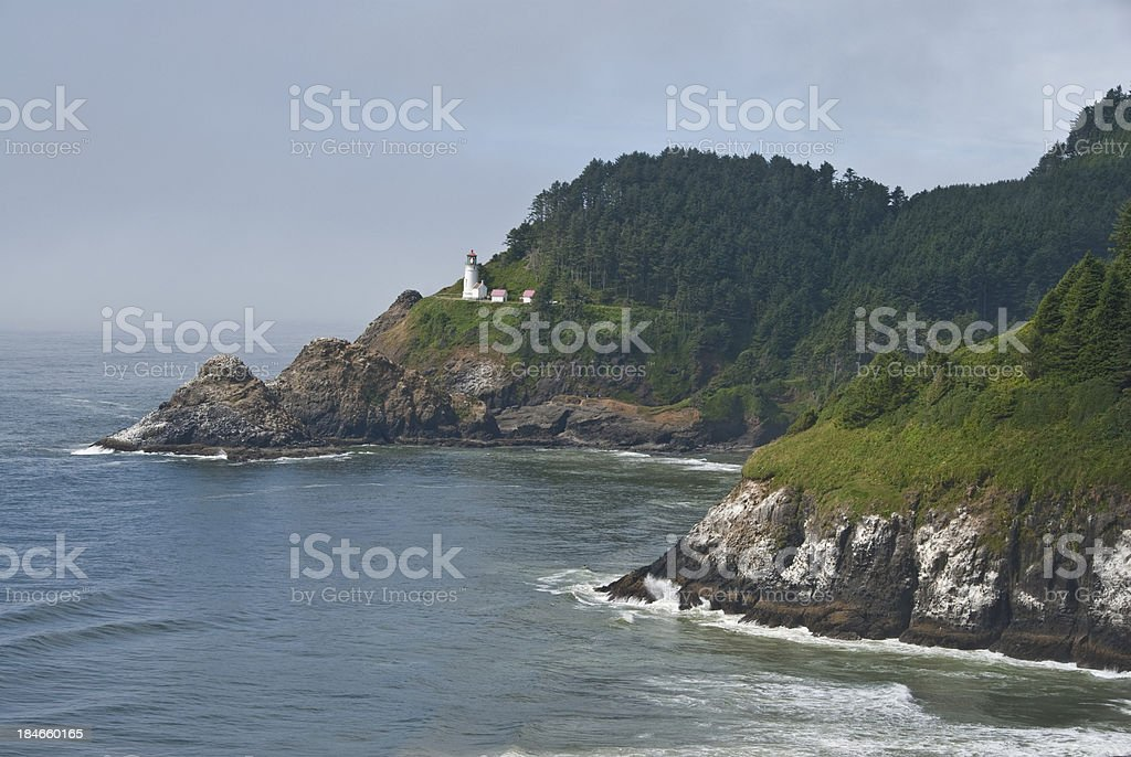 Heceta Head Overlooking the Pacific Ocean royalty-free stock photo