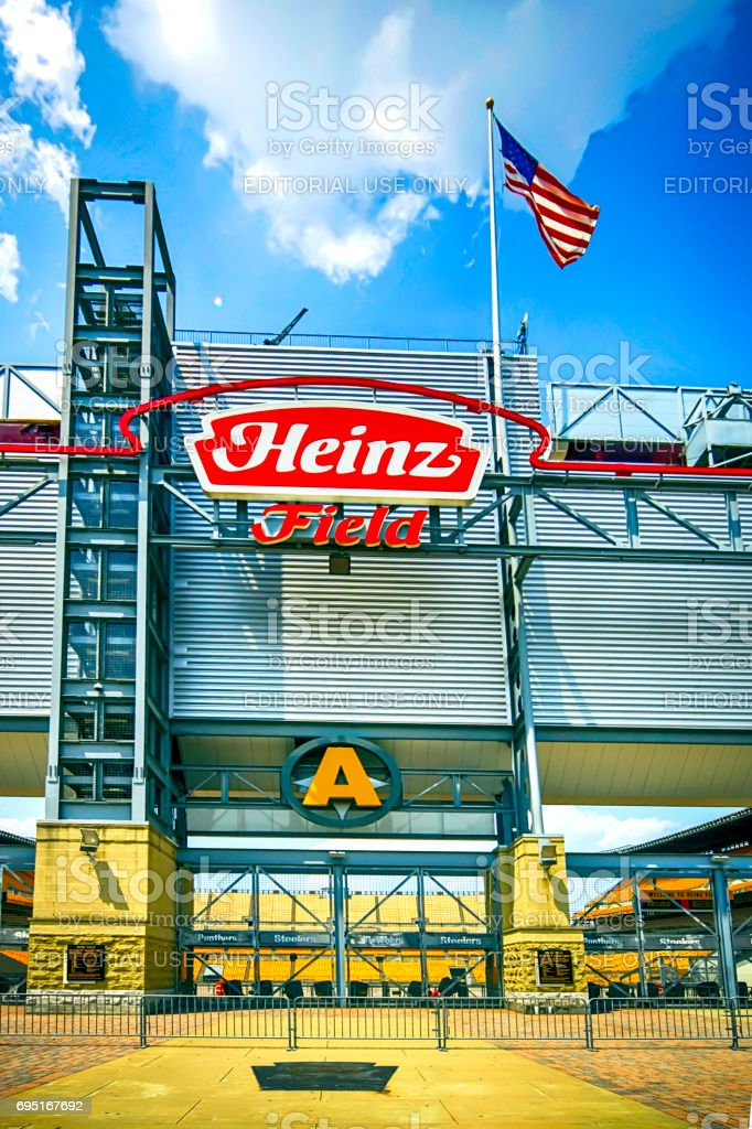 The Heinz Field Sports Stadium in Pittsburgh, PA, USA stock photo