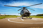 istock The helicopter in airfield 484298264