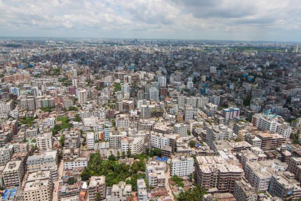 다카, 방글라데시에서 촬영 헬리콥터 스톡 사진