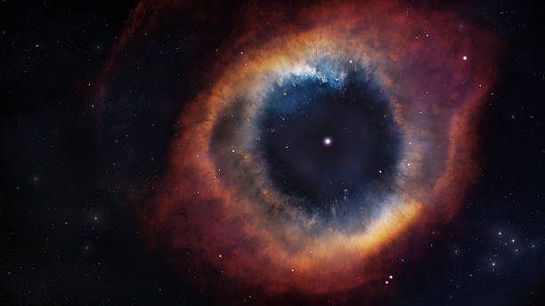 The Helix Nebula in deep space. Elements of this image stock photo