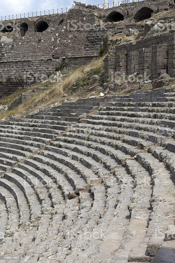 The Hellenistic Theater in Pergamon. stock photo