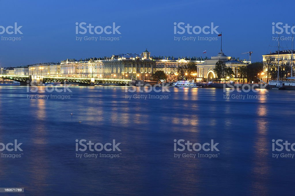 The Hermitage to St. Petersburg royalty-free stock photo