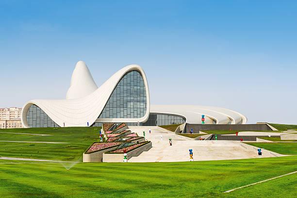 The Heydar Aliyev cultural Center in Baku stock photo