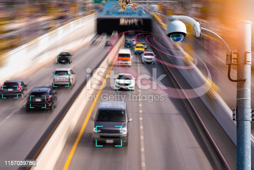 istock The Hi tech technology 4.0 sensing system and wireless communication network of vehicle to used internet signal in car when drive. 1157039786