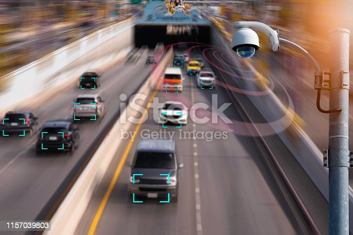istock The Hi tech technology 4.0 sensing system and wireless communication network of vehicle to used internet signal in car when drive. 1157039803