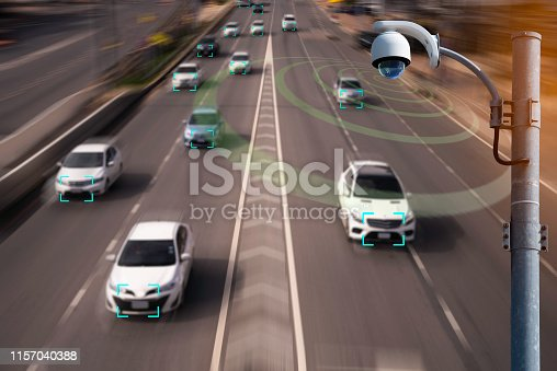 istock The Hi tech technology 4.0 sensing system and wireless communication network of vehicle to used internet signal in car when drive. 1157040388