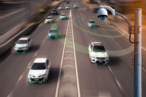 870169952 istock photo The Hi tech technology 4.0 sensing system and wireless communication network of vehicle to used internet signal in car when drive. 1157040388