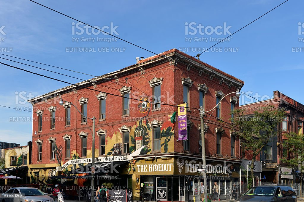 The Hideout on Queen St West in Toronto stock photo
