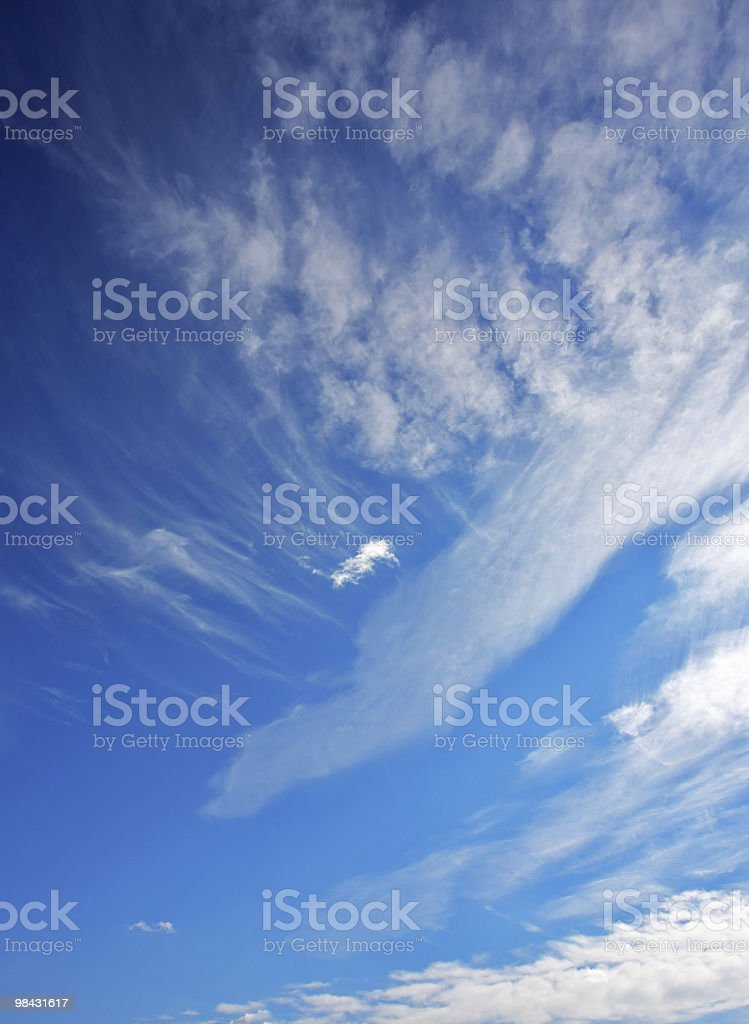 The high dark blue sky above Yellowstone royalty-free stock photo
