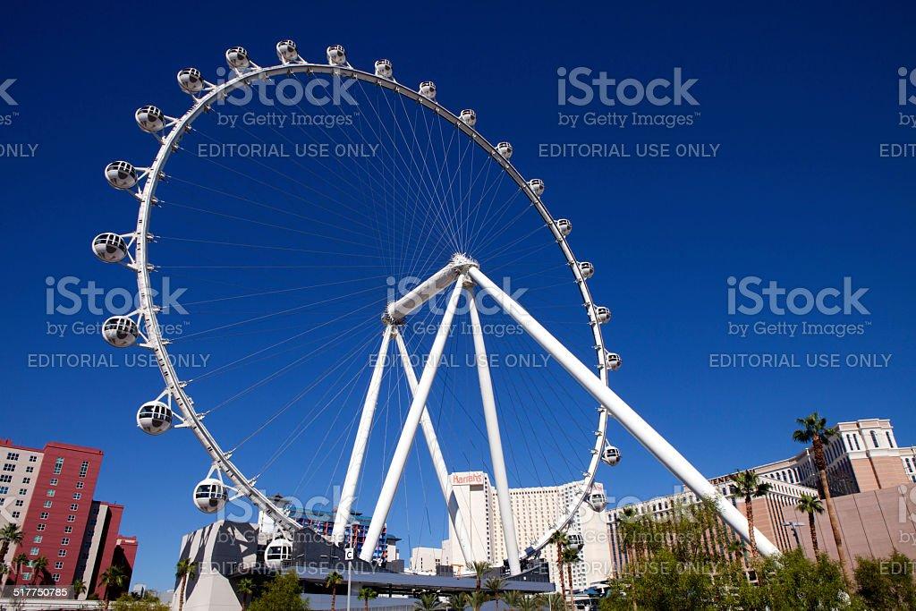 The High Roller Ferris Wheel in Las Vegas , Nevada stock photo