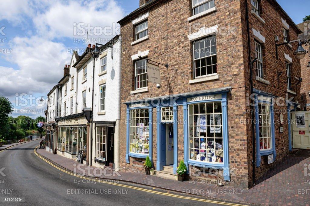 The High Street,  Ironbridge, Shropshire, England stock photo