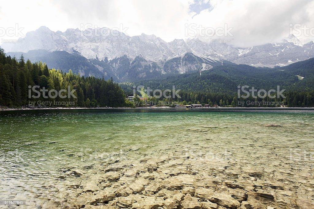 The highest point of Bavaria stock photo