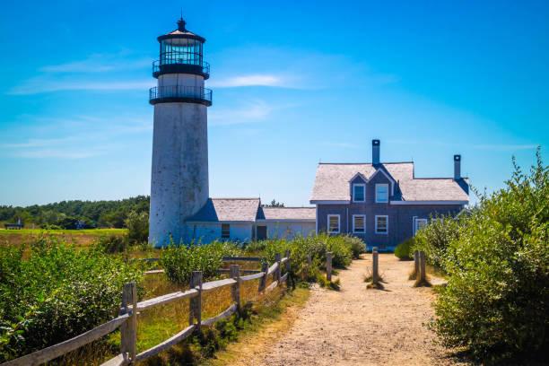 The Highland Light in Cape Cod National Seashore, Massachusetts stock photo