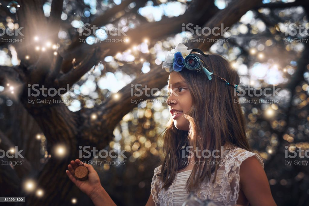 The Highlight Of Summer Evenings Are Catching Fireflies Stock Photo