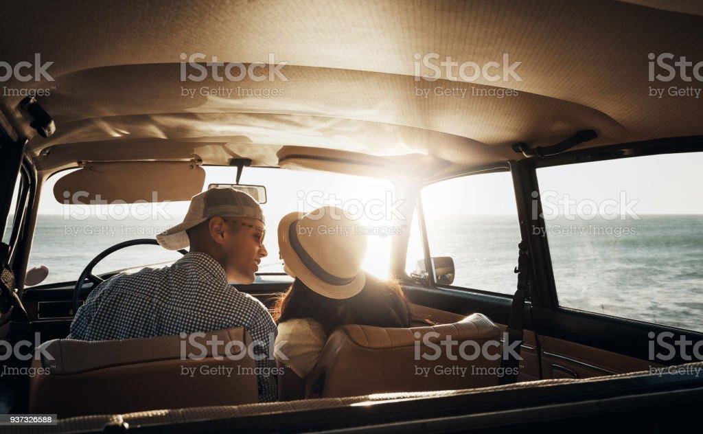 first kiss in car