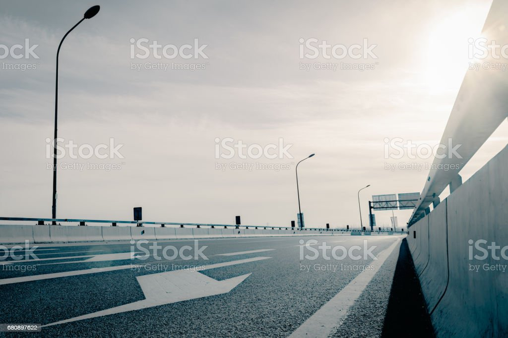 The highway in the city royalty-free stock photo