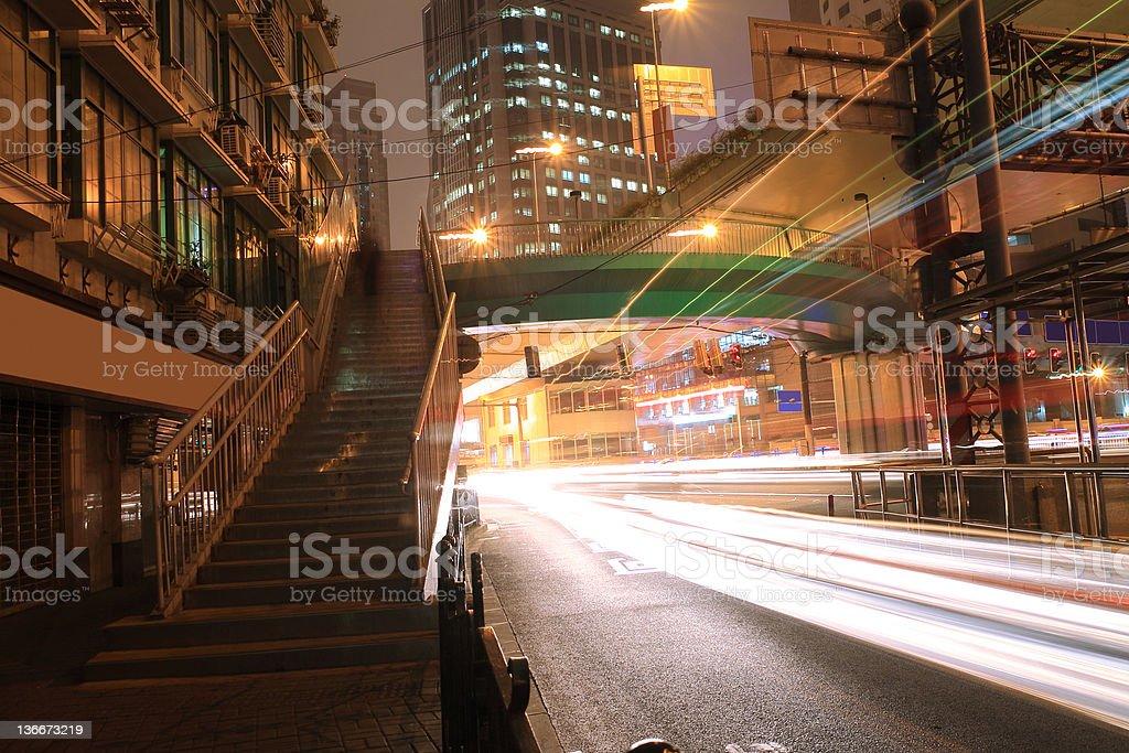 The Highway Night light royalty-free stock photo