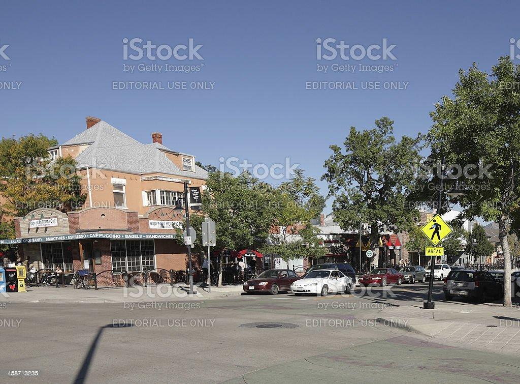 The Hill neighborhood of Boulder, Colorado royalty-free stock photo
