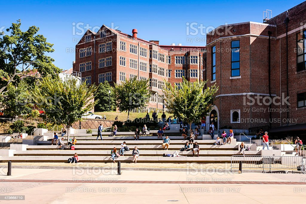 The Hill on the University of Tennessee campus in Knoxville stock photo