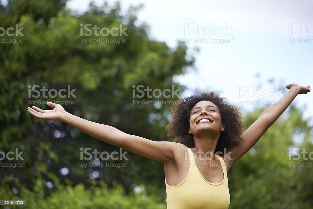 The hills are alive! stock photo