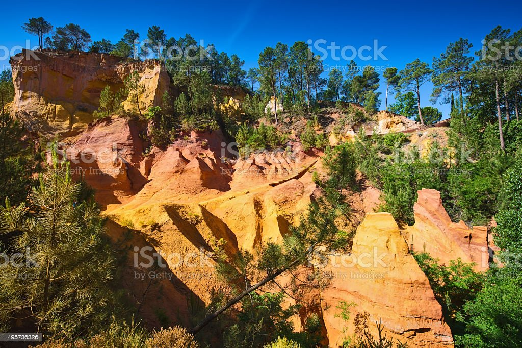 The hills in province of Languedoc - Roussillon stock photo