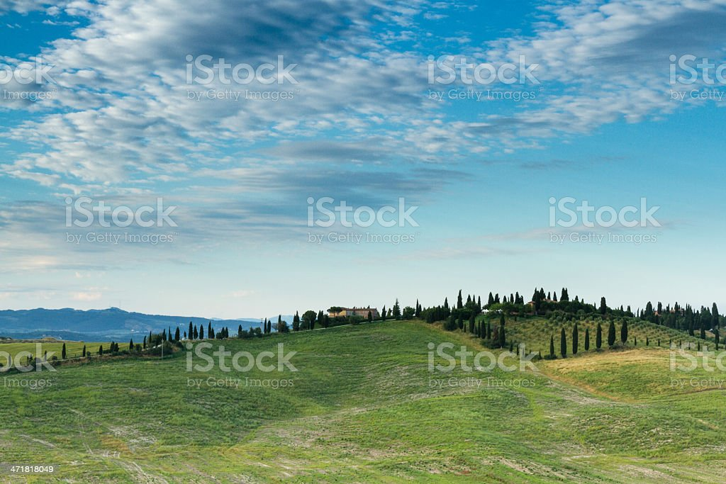 Les collines du crete senesi royalty-free stock photo