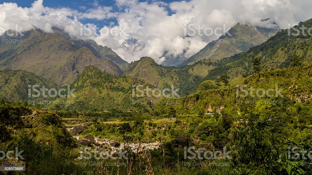 The Himalayan Foothills, in Nepal stock photo