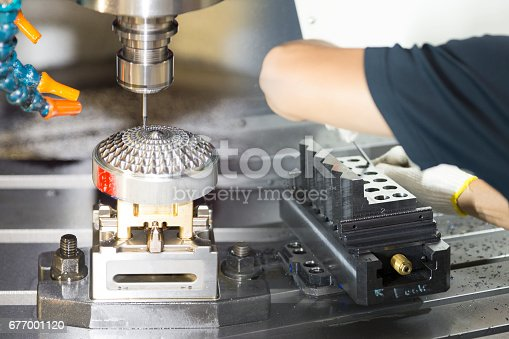 istock The hi-precision CNC machine  and the operator working 677001120