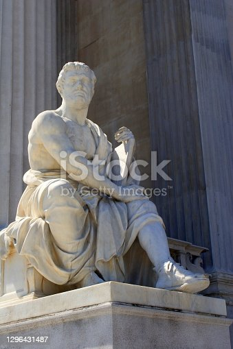 The historian - Taciuts statue in front of Vienna - parliament