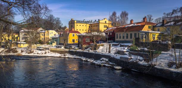 Gavle - 1. April 2018: Das historische Zentrum der Stadt von Hotels, Schweden – Foto