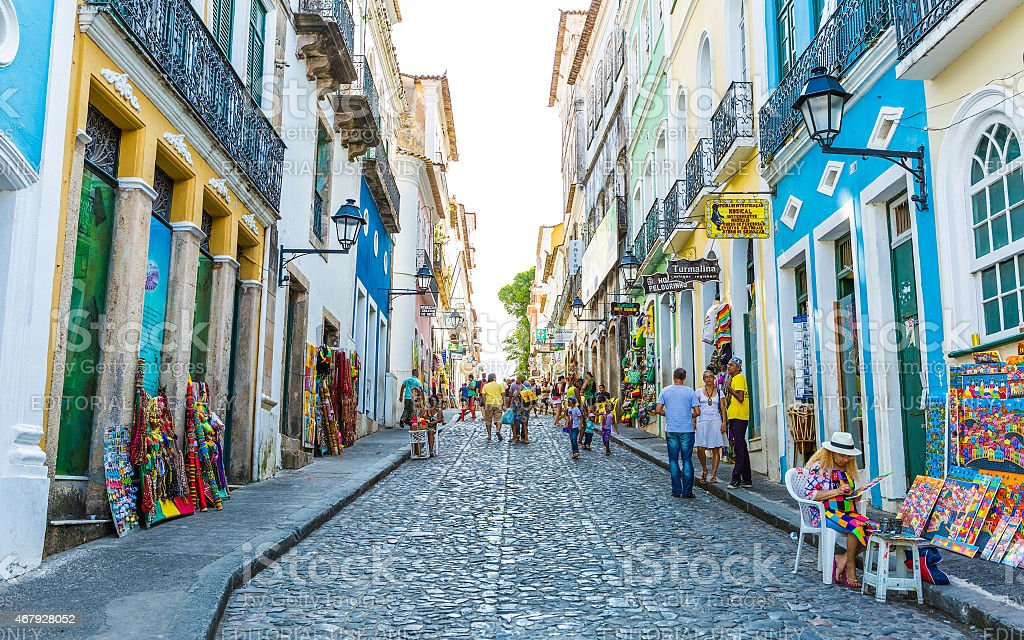 O centro histórico de Salvador, Brasil - foto de acervo