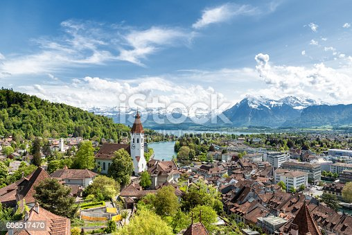 istock The historic city of Thun, in Bern in Switzerland. 608517470