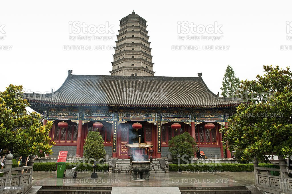 The historic Famen Temple in Shaanxi province, China stock photo