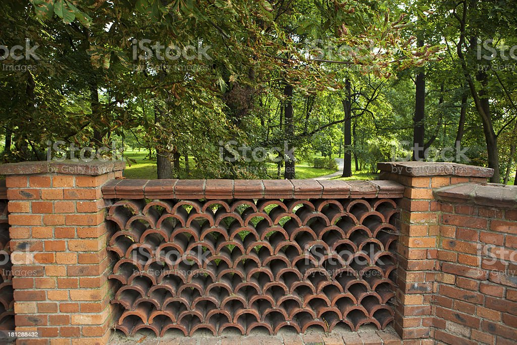 The historic fence royalty-free stock photo