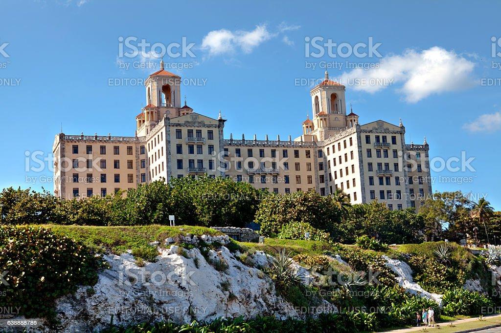 The historic Hotel Nacional de Cuba in Havana stock photo