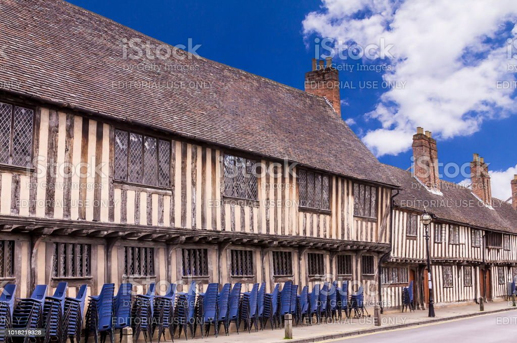 The historic King Edward VI school at Chapel Lane in Stratford Upon Avon, Warwickshire. UK
