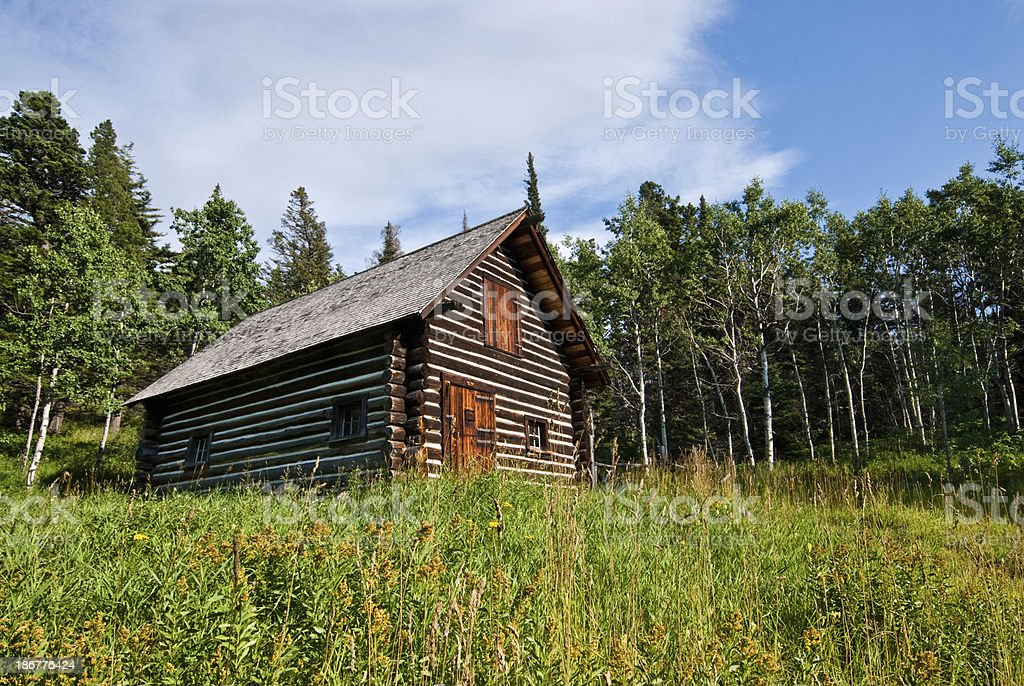 Historic Lubec Barn (1926) royalty-free stock photo