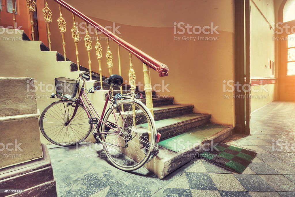 The historic staircase stock photo