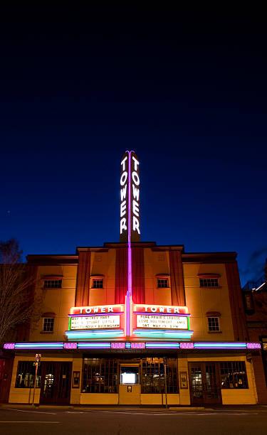 im historischen turm theater - universum city kinos stock-fotos und bilder