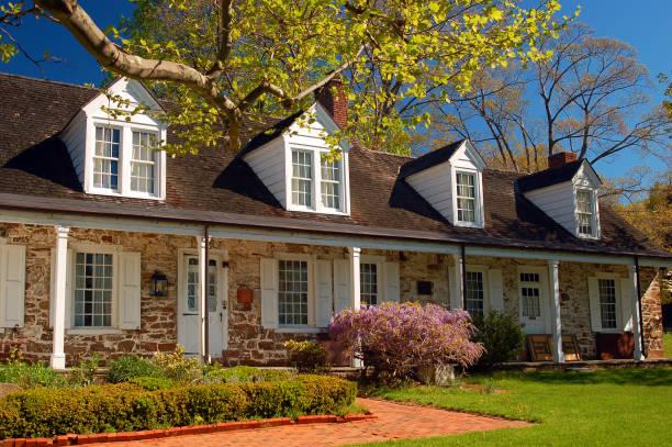 The historic Van Allen House, New Jersey stock photo