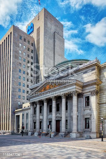 istock The historical building of bank of montreal in place d'Arms in Montreal, Quebec, Canada 1153477261
