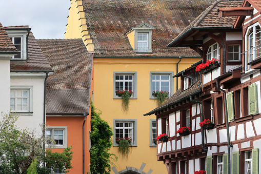 The historical old town of Meersburg at the lake constance, baden-wuerttemberg, germany, europe.