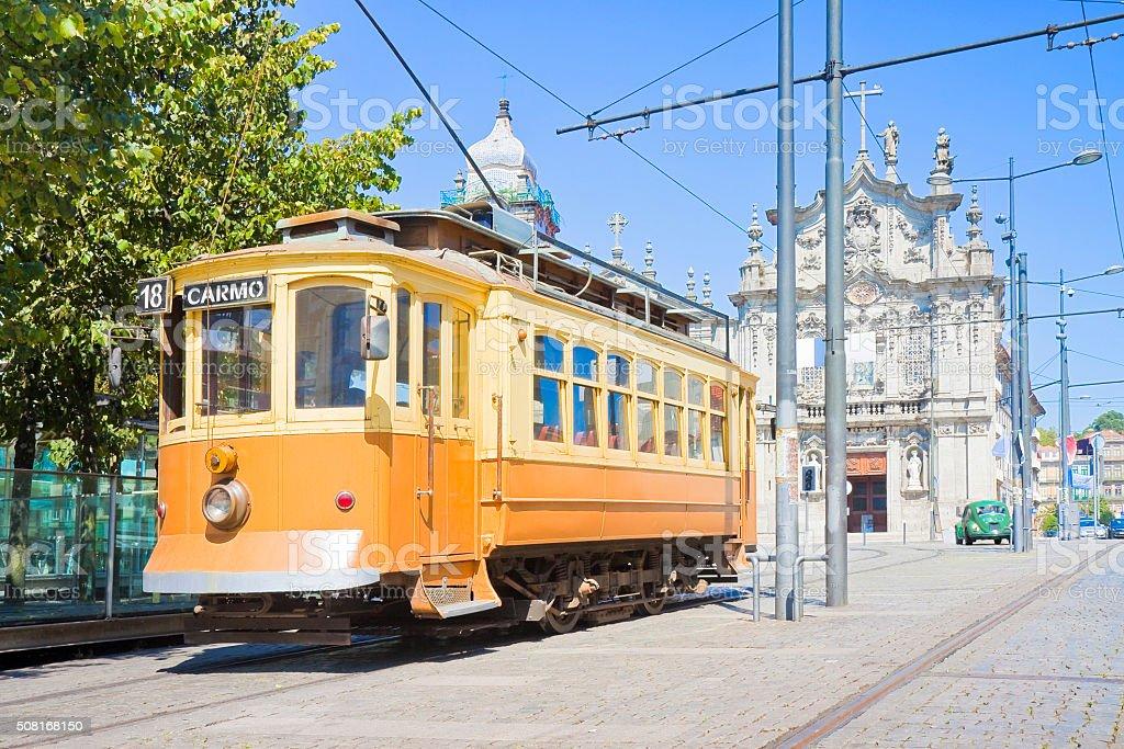 The historical trasportation of Porto stock photo