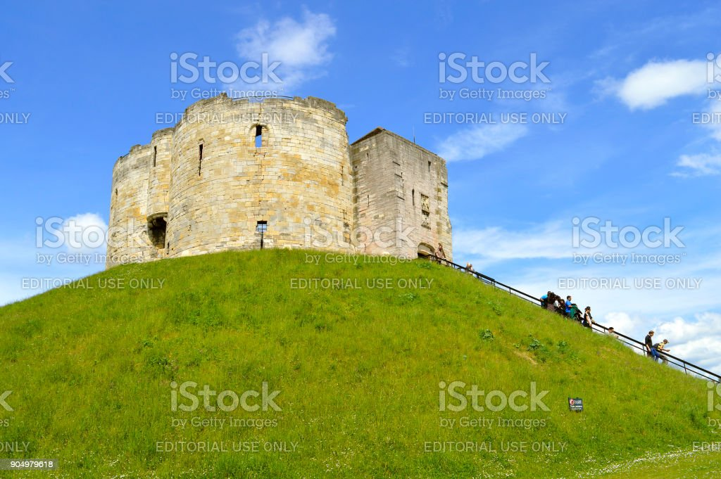 The historical York Castle stock photo
