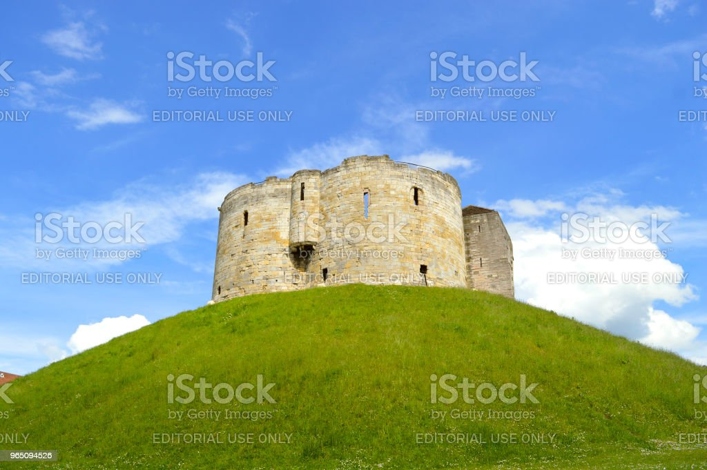 The historical York Castle royalty-free stock photo