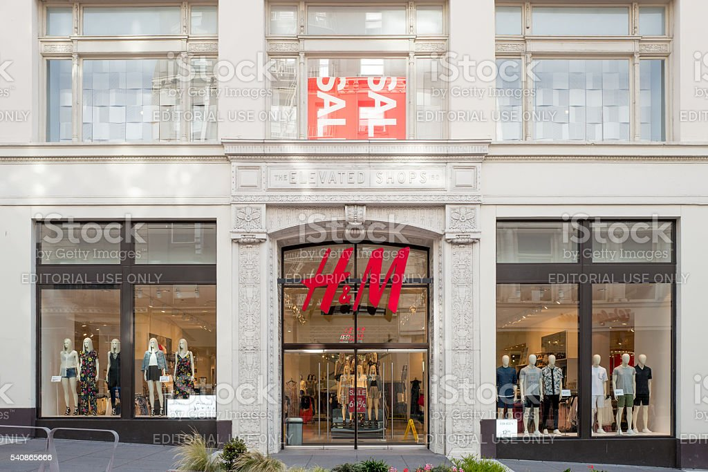 The H&M shops in Powell Street, San Francisco stock photo