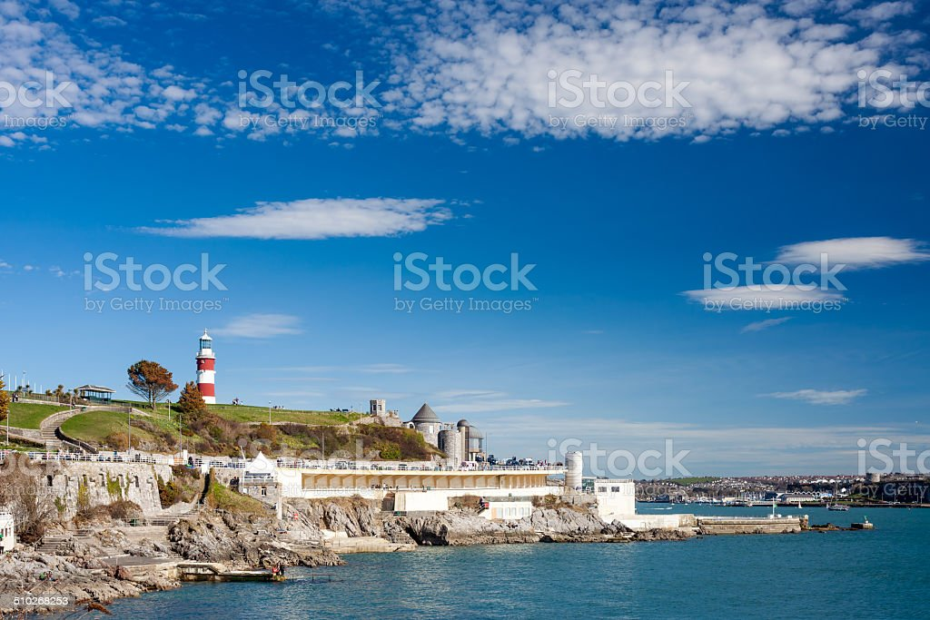 The Hoe Plymouth Devon stock photo